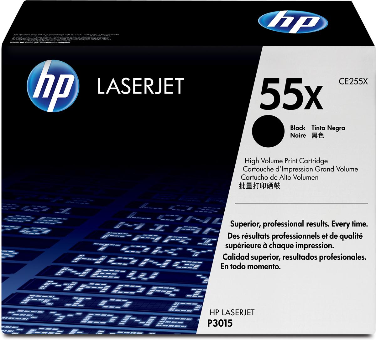 HP CE255X, Black тонер-картридж для LaserJet Enterprise P3015/P3015d/P3015dn/P3015xCE255X