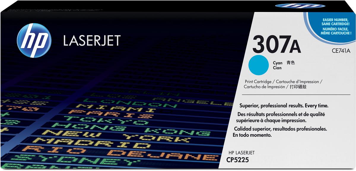 HP CE741A (№307A), Cyan тонер-картридж для Color LaserJet CP5225 картридж profiline pl c8774he light cyan для hp 8253