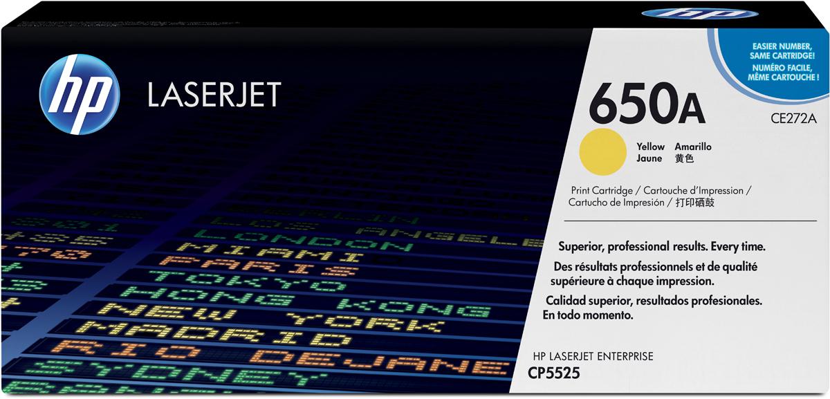 HP CE272A, Yellow тонер-картридж для LaserJet CP5520/5525