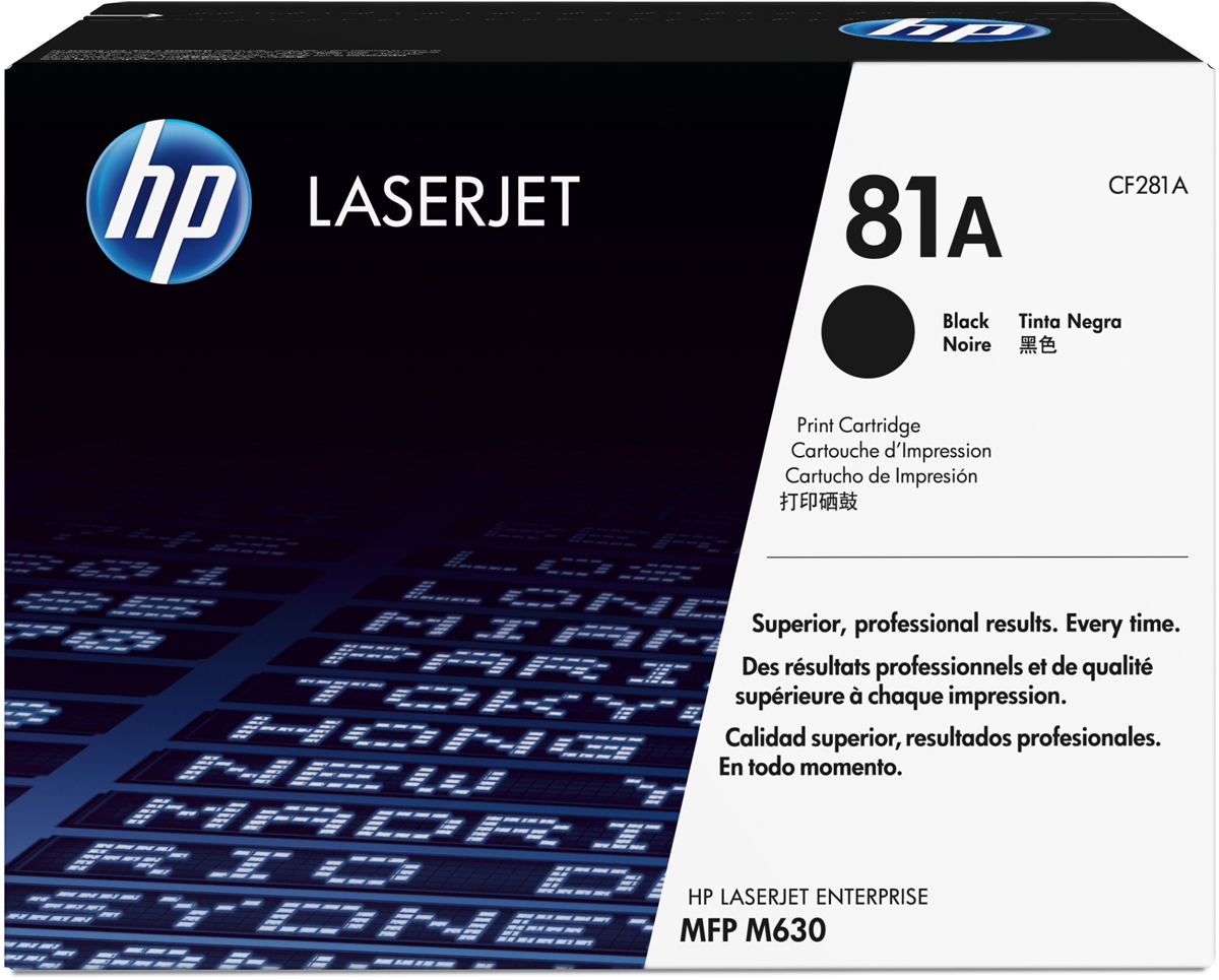 281 540 HP CF281A, Black тонер-картридж для LaserJet Enterprise M606/M605/604