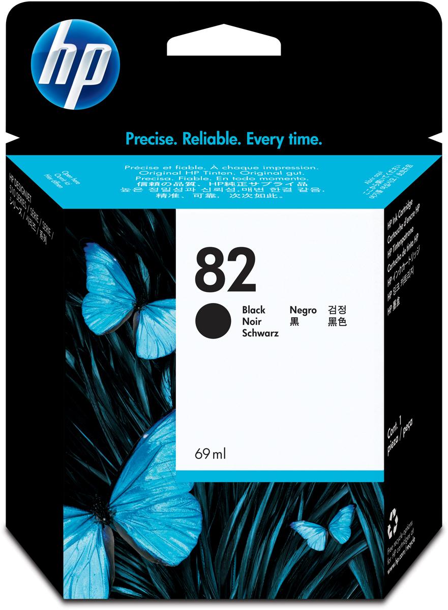 HP CHA (№82), Black картридж для Designjet 111/510CHA