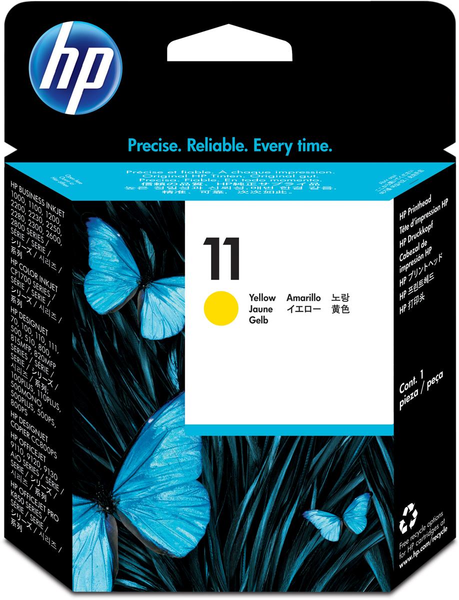 HP C4813A (№ 11), Yellow печатающая головка для DesignJet 111/510/ DJ 2200/2250 картридж для принтера hp 11 c4813a yellow