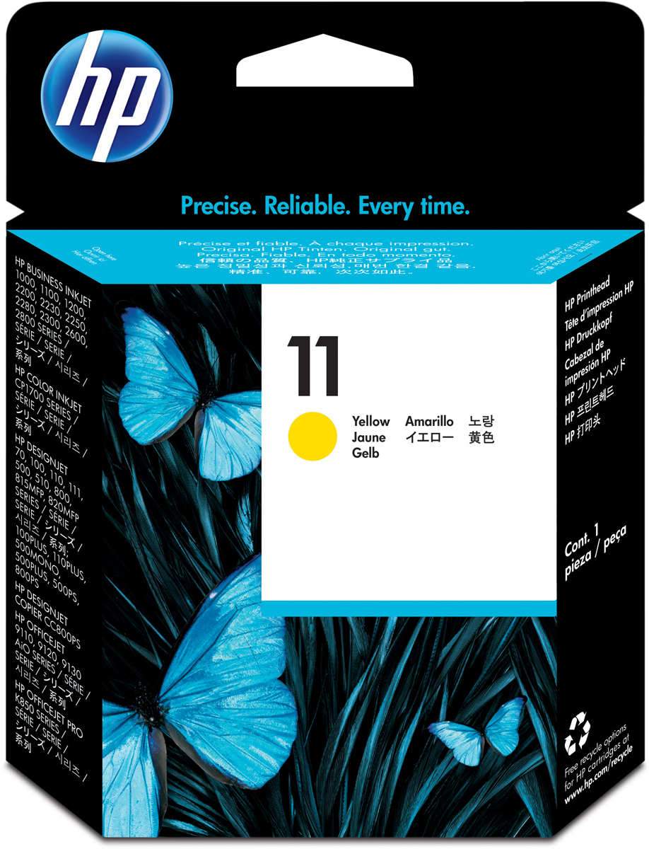 HP C4813A (№ 11), Yellow печатающая головка для DesignJet 111/510/ DJ 2200/2250 hp cn624ae yellow
