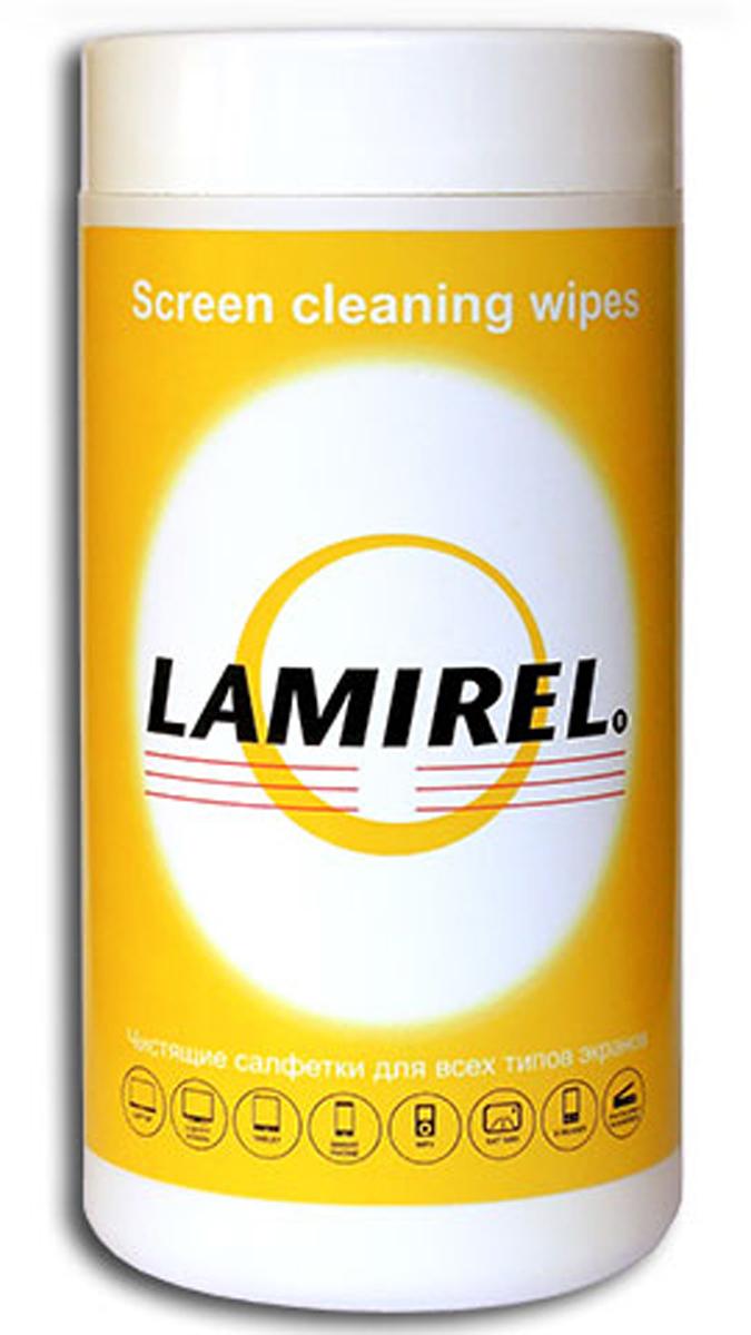 Lamirel LA-11440 чистящие салфетки для экранов всех типов (100 шт)LA-11440LA-11440, Чистящие салфетки для экранов всех типов Lamirel в тубе, 100 шт.Салфетки произведены из высококачественного материала ветлейд, который обладает превосходными впитывающими свойствами, не оставляет разводов и ворсинок на очищаемой поверхности, благодаря чему подходит для очистки экранов, дисплеев, рабочих поверхностей, а также для поддержания заданных параметров стерильности в чистых помещениях. Материал салфеток и компоненты чистящего вещества полностью разлагаемы, не содержат дерматологически опасных веществ. Туба изготовлена из качественного пластика, не теряющего форму при деформации, крышка тубы плотно закрывается, что препятствует высыханию салфеток во вскрытой упаковке. Невскрытая упаковка имеет защитную перфорированную мембрану.Предназначены для очистки экранов ноутбуков, планшетных компьютеров, смартфонов, ЭЛТ либо TFT/LCD мониторов, стеклянных поверхностей копировальных аппаратов и сканеров. Использовать на выключенных устройствах. Обладают антистатическими свойствами, не содержат спирт. Срок годности салфеток – 2 года с даты изготовления, во вскрытой упаковке – 4 мес. Wetlaid - гидравлическое или влажное холстоформирование. Особенностью данного способа является то, что изготовление нетканых полотен, происходит путем отлива водной суспензии, на сеточную часть бумагоделательной машины, вследствие чего получается бумагоподобный нетканый материал с высокой однородностью свойств. При контакте с жидкостью приобретает текстильные свойства: впитывает жидкость, становится мягким и приятным на ощупь. Данный материал широко применяется для производства высококачественных чистящих салфеток профессионального уровня в Европе.