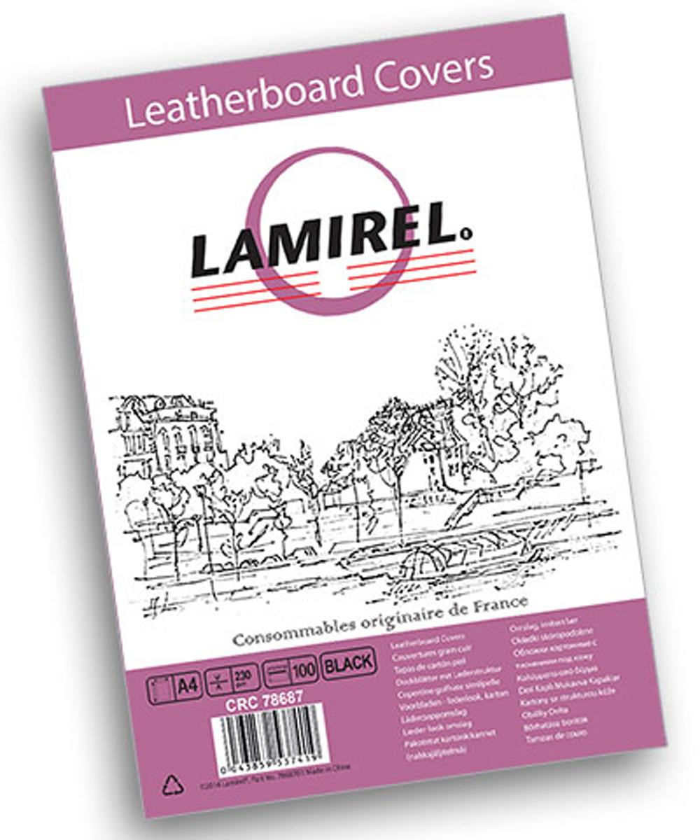 Lamirel Delta A4, Black обложка для переплета (100 шт)LA-78687Обложка Lamirel с тиснением под кожу предназначена для переплета документов формата А4 на пластиковую или металлическую пружину. Обложка изготовлена из плотного износостойкого картона, что обеспечивает надежную защиту документа от потертостей и механических повреждений. Тиснение под кожу придает брошюре презентабельный внешний вид. Текстура картонной обложки приятна на ощупь и ее удобно держать в руках. Идеально подходит как для титульного листа, так и в качестве подложки. Обложки Lamirel с тиснением под кожу поставляется в упаковке по 100 шт. с фирменным цветным вкладышем.