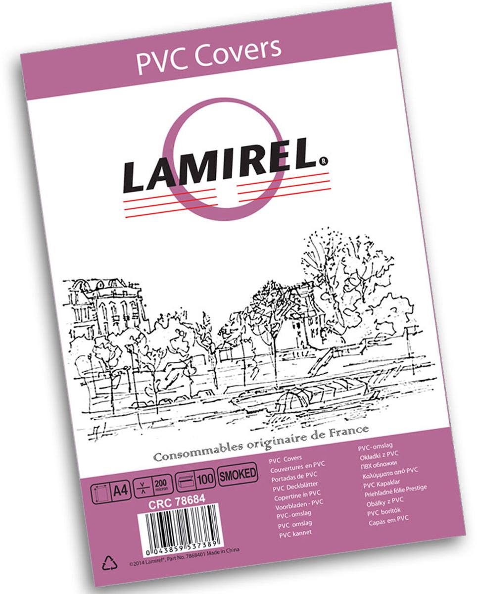 Lamirel LA-78684 Transparent A4, Smoky обложка для переплета (100 шт)LA-78684ПВХ обложка Lamirel предназначена для переплета документов формата А4 на пластиковую или металлическую пружину. Обложка изготовлена из ПВХ, что обеспечивает стандартную защиту документа от загрязнений и потертости.Идеально подходит для оформления титульного листа. Прозрачная обложка с тонированием позволяет видеть название брошюры и всю необходимую информацию на первой странице. Различные цвета тонировки помогают визуально различать назначение документа. Это может быть разделение по отделам, сферам применения, месяцу или году создания и т.п.ПВХ обложки Lamirel поставляется в упаковке по 100 шт. с фирменным цветным вкладышем.