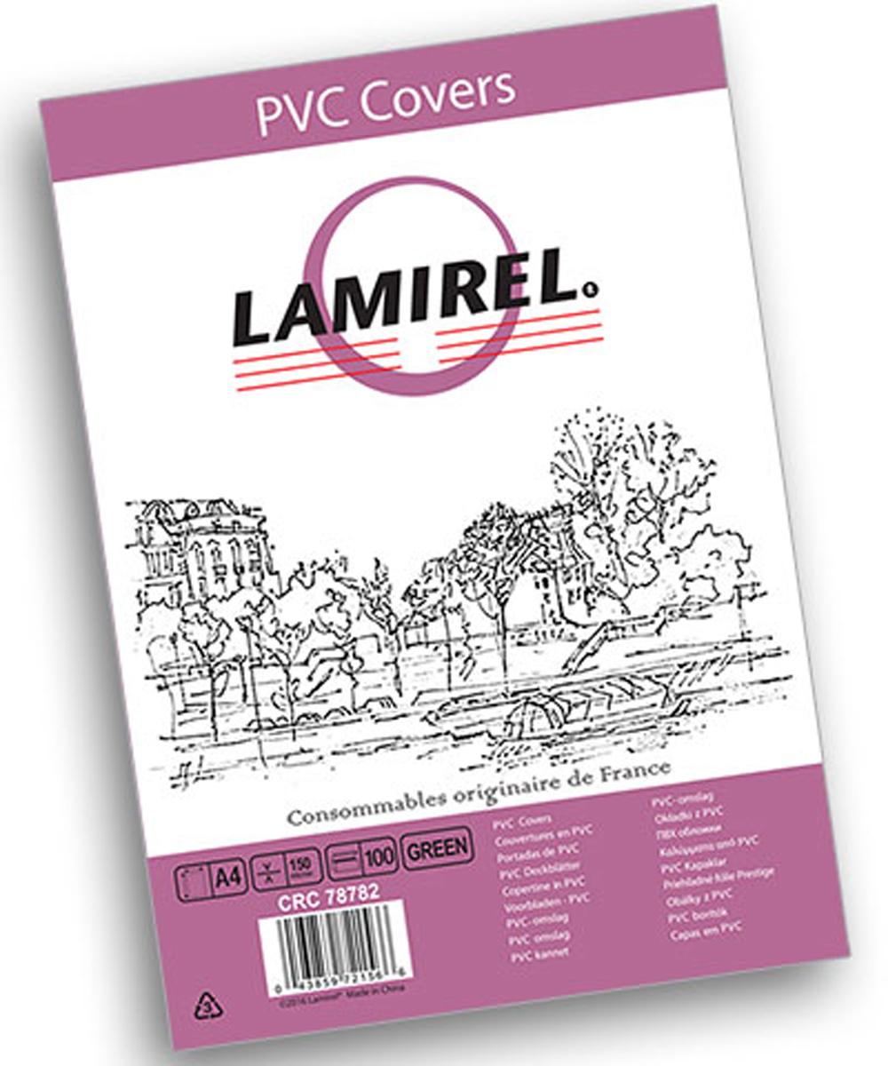 Lamirel LA-78782 Transparent A4, Green обложка для переплета (100 шт)LA-78782ПВХ обложка Lamirel LA-78782 предназначена для переплета документов формата А4 на пластиковую или металлическую пружину. Обложка изготовлена из ПВХ 150 мкм, что обеспечивает стандартную защиту документа от загрязнений и потертости.Идеально подходит для оформления титульного листа. Прозрачная обложка с зеленым тонированием позволяет видеть название брошюры и всю необходимую информацию на первой странице. Различные цвета тонировки помогают визуально различать назначение документа. Это может быть разделение по отделам, сферам применения, месяцу или году создания и т.п.