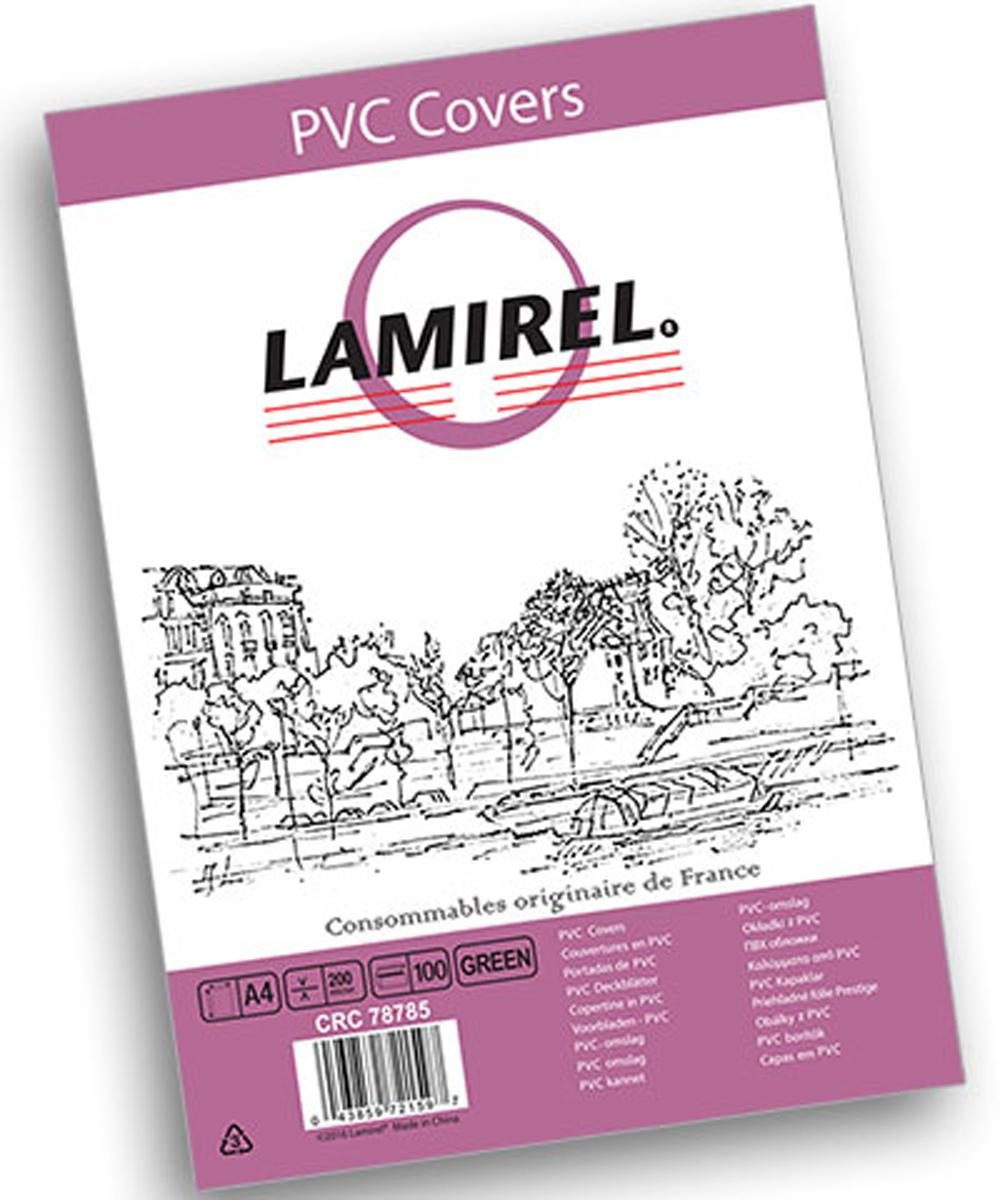 Lamirel LA-78785 Transparent A4, Green обложка для переплета (100 шт)LA-78785ПВХ обложка Lamirel предназначена для переплета документов формата А4 на пластиковую или металлическую пружину. Обложка изготовлена из ПВХ, что обеспечивает стандартную защиту документа от загрязнений и потертости.Идеально подходит для оформления титульного листа. Прозрачная обложка с тонированием позволяет видеть название брошюры и всю необходимую информацию на первой странице. Различные цвета тонировки помогают визуально различать назначение документа. Это может быть разделение по отделам, сферам применения, месяцу или году создания и т.п.ПВХ обложки Lamirel поставляется в упаковке по 100 шт. с фирменным цветным вкладышем.