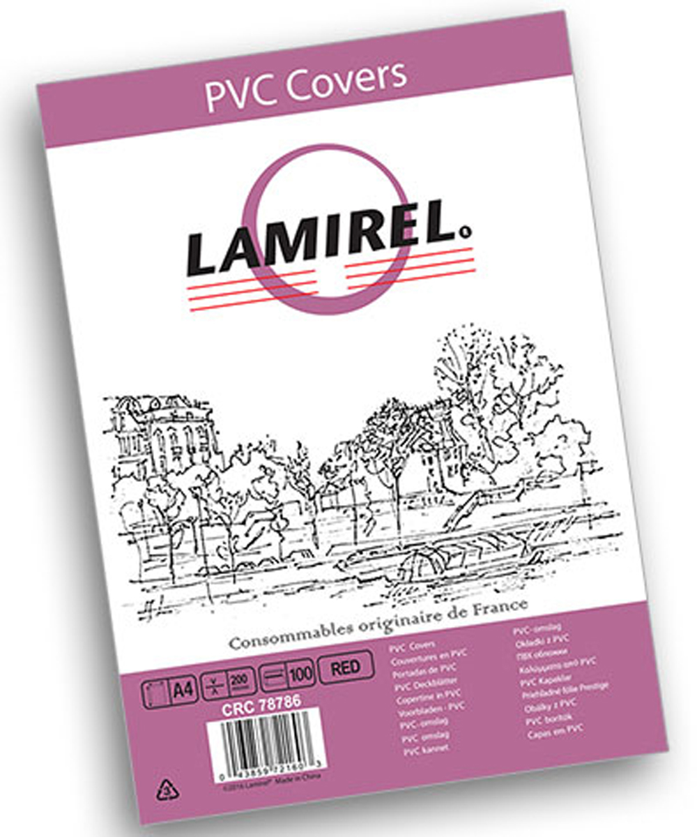 Lamirel LA-78786 Transparent A4, Red обложка для переплета (100 шт)LA-78786ПВХ обложка Lamirel предназначена для переплета документов формата А4 на пластиковую или металлическую пружину. Обложка изготовлена из ПВХ, что обеспечивает стандартную защиту документа от загрязнений и потертости.Идеально подходит для оформления титульного листа. Прозрачная обложка с тонированием позволяет видеть название брошюры и всю необходимую информацию на первой странице. Различные цвета тонировки помогают визуально различать назначение документа. Это может быть разделение по отделам, сферам применения, месяцу или году создания и т.п.ПВХ обложки Lamirel поставляется в упаковке по 100 шт. с фирменным цветным вкладышем.