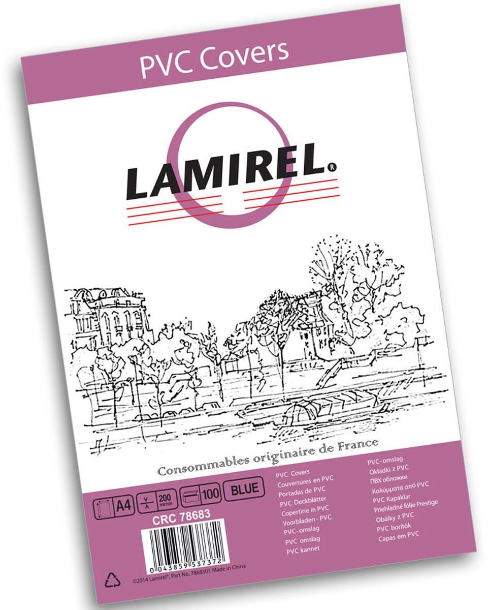 Lamirel LA-78683 Transparent A4, Blue обложка для переплета (100 шт)LA-78683ПВХ обложка Lamirel предназначена для переплета документов формата А4 на пластиковую или металлическую пружину. Обложка изготовлена из ПВХ, что обеспечивает стандартную защиту документа от загрязнений и потертости.Идеально подходит для оформления титульного листа. Прозрачная обложка с тонированием позволяет видеть название брошюры и всю необходимую информацию на первой странице. Различные цвета тонировки помогают визуально различать назначение документа. Это может быть разделение по отделам, сферам применения, месяцу или году создания и т.п.ПВХ обложки Lamirel поставляется в упаковке по 100 шт. с фирменным цветным вкладышем.