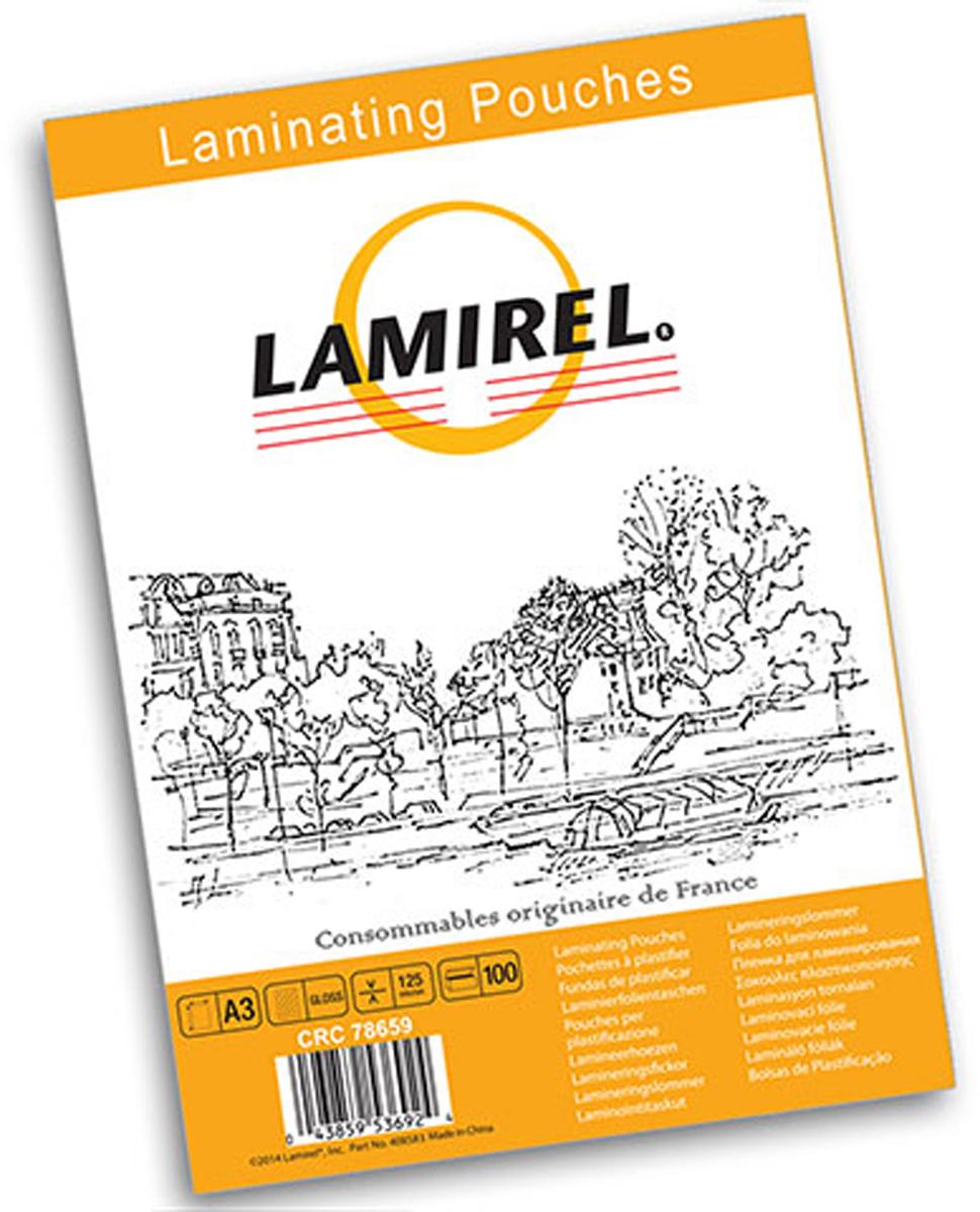 Lamirel А3 LA-78659 пленка для ламинирования, 125 мкм (100 шт)LA-78659Пакетная пленка Lamirel предназначена для защиты документов от нежелательных внешних воздействий.Обеспечивает улучшенную защиту от грязи, пыли, влаги. Документ дополнительно получает жесткость на изгиб и защиту от механического воздействия и потертостей. Идеально подходит для интенсивной эксплуатации. Глянцевое покрытие улучшает внешний вид документа: краски становятся глубже, ярче и контрастнее.Пленка для ламинирования Lamirel поставляется по 100 шт. в фирменной цветной упаковке.