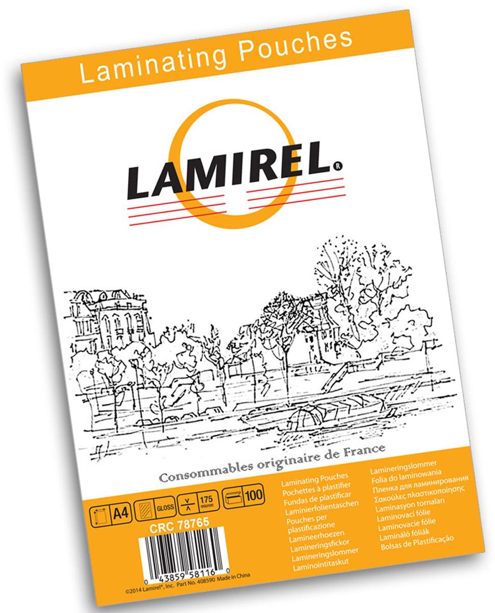 Lamirel А4 LA-78765 пленка для ламинирования, 175 мкм (100 шт)LA-78765Пакетная пленка Lamirel предназначена для защиты документов от нежелательных внешних воздействий.Обеспечивает улучшенную защиту от грязи, пыли, влаги. Документ дополнительно получает жесткость на изгиб и защиту от механического воздействия и потертостей. Идеально подходит для интенсивной эксплуатации. Глянцевое покрытие улучшает внешний вид документа: краски становятся глубже, ярче и контрастнее.Пленка для ламинирования Lamirel поставляется по 100 шт. в фирменной цветной упаковке. Уважаемые клиенты! Обращаем ваше внимание на то, что упаковка может иметь несколько видов дизайна. Поставка осуществляется в зависимости от наличия на складе.