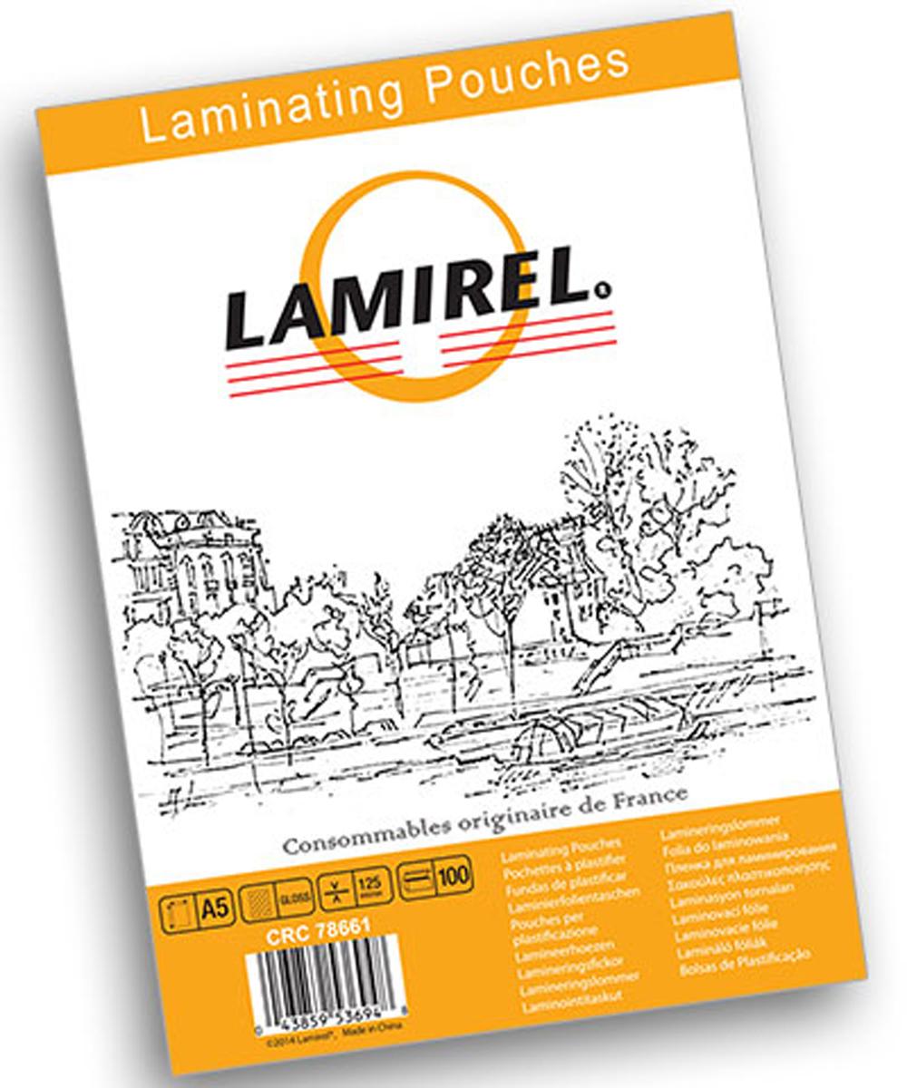 Lamirel А5 LA-78661 пленка для ламинирования, 125 мкм (100 шт)LA-78661Пакетная пленка Lamirel предназначена для защиты документов от нежелательных внешних воздействий. Обеспечивает улучшенную защиту от грязи, пыли, влаги. Документ дополнительно получает жесткость на изгиб и защиту от механического воздействия и потертостей. Идеально подходит для интенсивной эксплуатации.Глянцевое покрытие улучшает внешний вид документа: краски становятся глубже, ярче и контрастнее. Пленка для ламинирования Lamirel поставляется по 100 шт. в фирменной цветной упаковке.