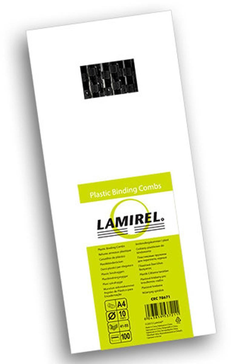 Lamirel LA-78671, Black пружина для переплета, 10 мм (100 шт)LA-78671Пластиковая пружина Lamirel предназначена для переплета документа. Пружина надежно удерживает листы в переплете благодаря изготовлению из высококачественного пластика. Подходит для многократного использования.
