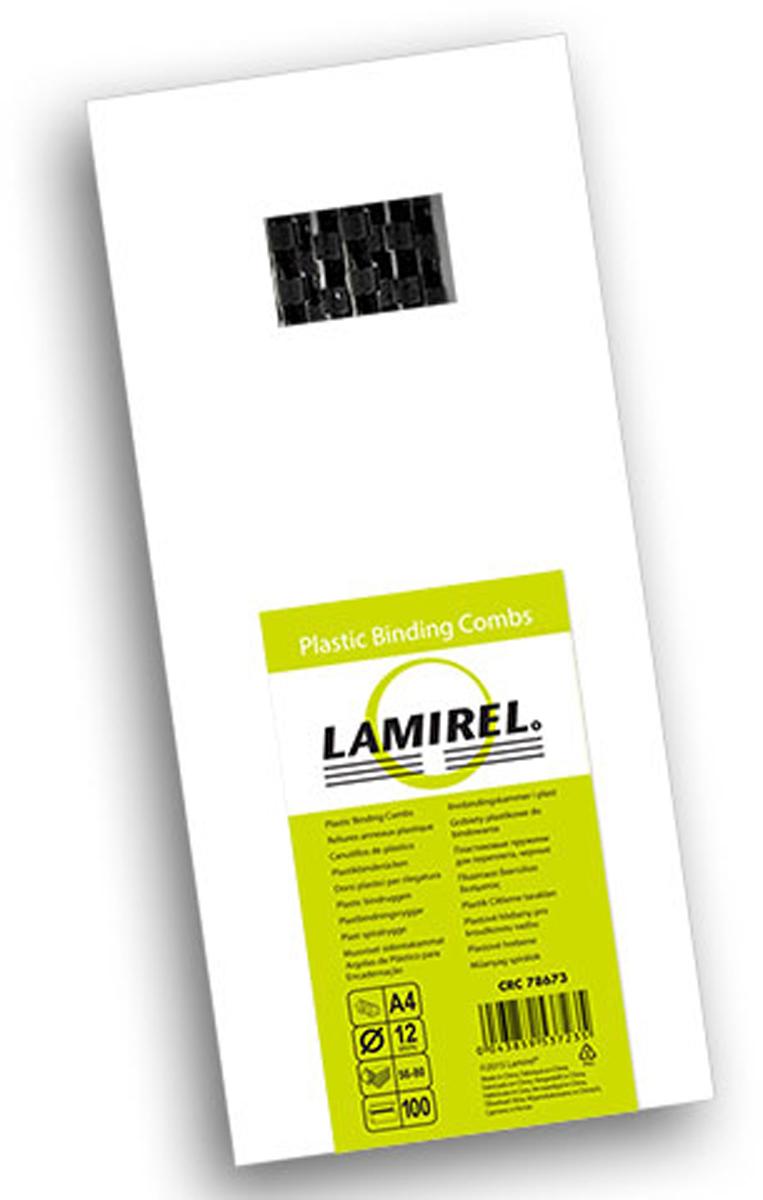 Lamirel LA-78673, Black пружина для переплета, 12 мм (100 шт)LA-78673Пластиковая пружина Lamirel предназначена для переплета документа. Пружина надежно удерживает листы в переплете благодаря изготовлению из высококачественного пластика. Подходит для многократного использования. Пластиковые пружины Lamirel поставляется в упаковке по 100 шт. с цветной этикеткой.