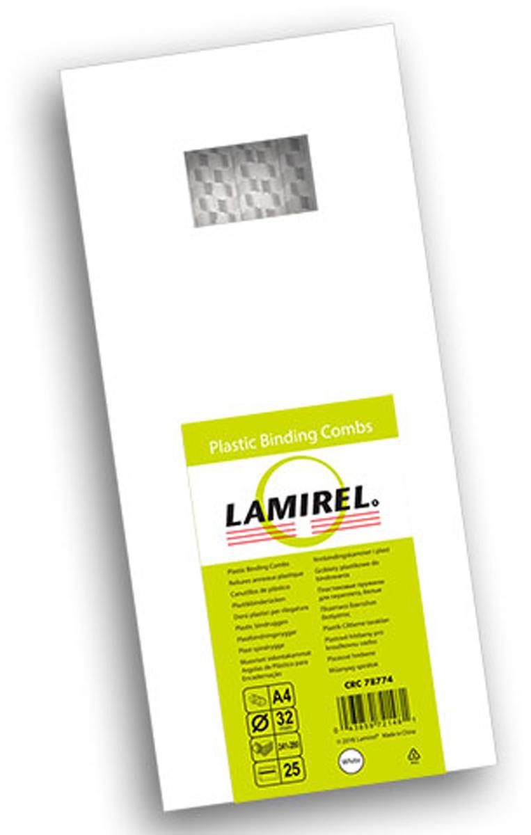 Lamirel LA-78774, White пружина для переплета, 25 мм (25 шт)LA-78774Пластиковая пружина Lamirel предназначена для переплета документа. Пружина надежно удерживает листы в переплете благодаря изготовлению из высококачественного пластика. Подходит для многократного использования. Пластиковые пружины Lamirel поставляется в упаковке по 25 шт. с цветной этикеткой.