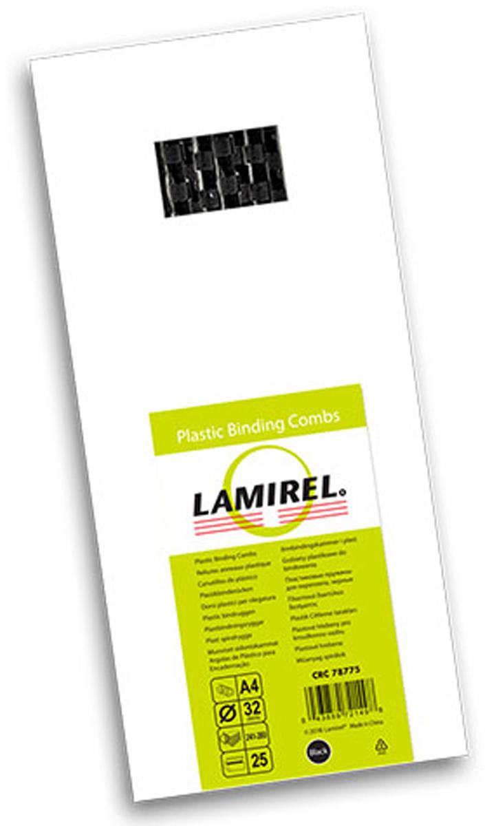 Lamirel LA-78775, Black пружина для переплета, 32 мм (25 шт)LA-78775Пластиковая пружина Lamirel предназначена для переплета документа. Пружина надежно удерживает листы в переплете благодаря изготовлению из высококачественного пластика. Подходит для многократного использования. Пластиковые пружины Lamirel поставляется в упаковке по 25 шт. с цветной этикеткой.