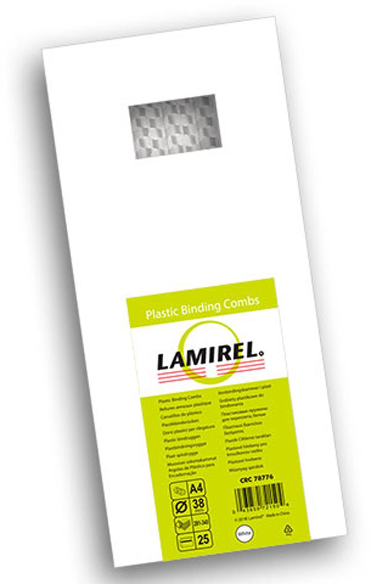 Lamirel LA-78776, White пружина для переплета, 38 мм (25 шт)LA-78776Пластиковая пружина Lamirel предназначена для переплета документа. Пружина надежно удерживает листы в переплете благодаря изготовлению из высококачественного пластика. Подходит для многократного использования. Пластиковые пружины Lamirel поставляется в упаковке по 25 шт. с цветной этикеткой.