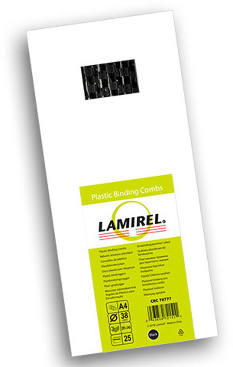 Lamirel LA-78777, Black пружина для переплета, 38 мм (25 шт)LA-78777Пластиковая пружина Lamirel предназначена для переплета документа. Пружина надежно удерживает листы в переплете благодаря изготовлению из высококачественного пластика. Подходит для многократного использования. Пластиковые пружины Lamirel поставляется в упаковке по 25 шт. с цветной этикеткой.