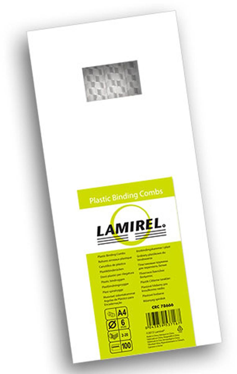 Lamirel LA-78666, White пружина для переплета, 6 мм (100 шт)LA-78666Пластиковая пружина Lamirel предназначена для переплета документа. Пружина надежно удерживает листы в переплете благодаря изготовлению из высококачественного пластика. Подходит для многократного использования. Пластиковые пружины Lamirel поставляется в упаковке по 100 шт. с цветной этикеткой.