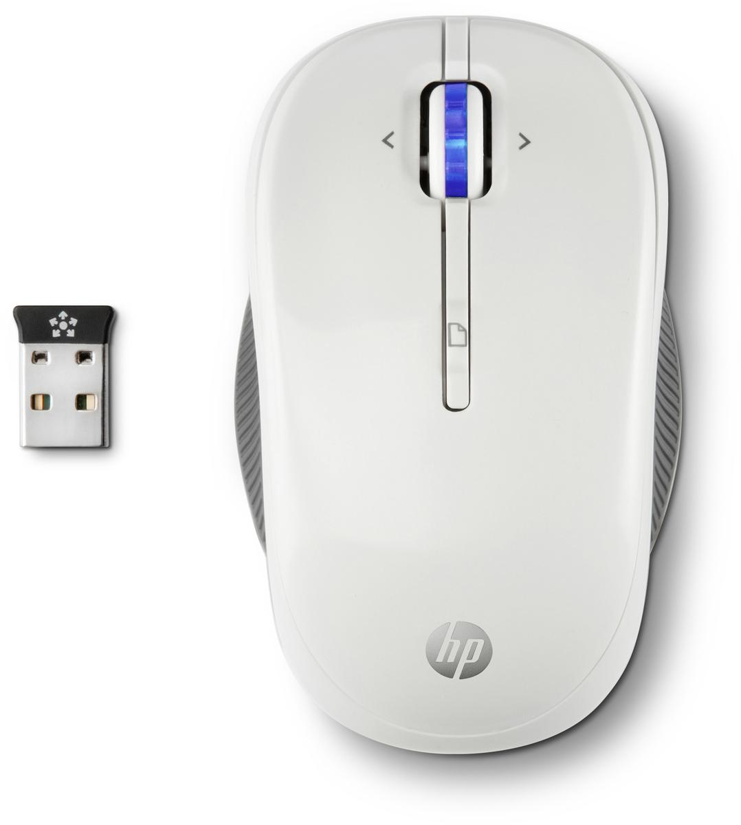 HP X3300, White мышьh4n94aaHP X3300 станет вашей любимой мышью. Компактный размер легко позволяет брать с собой. Устойчивое беспроводное подключение на частоте 2,4 ГГц открывает широкие возможности. Возможность программирования 4-й кнопки. Идеальная работа с Windows 8.