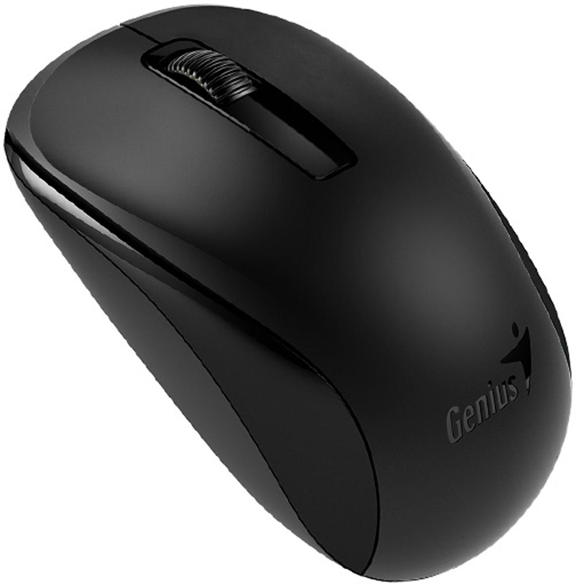 Genius NX-7005, Black мышь беспроводная31030127101Мышь Genius NX-7005 подходит как для правой, так и для левой руки.Благодаря четкой форме легко лежит как в правой, так и в левой руке и обеспечивает максимальное удобство на протяжении всего дня.Благодаря технологии BlueEye с разрешением 1200 dpi мышь NX-7005 обеспечивает великолепную точность и работу практически на любом покрытии: на запыленном стекле или мраморе, на диване и даже на ковре.Приемник NX-7005 можно использовать с другими беспроводными мышами Genius для дополнительной мобильности. Не придется беспокоиться, если приемник от этой беспроводной серии Genius потеряется.Во время поездки можно хранить приемник под днищем мыши.