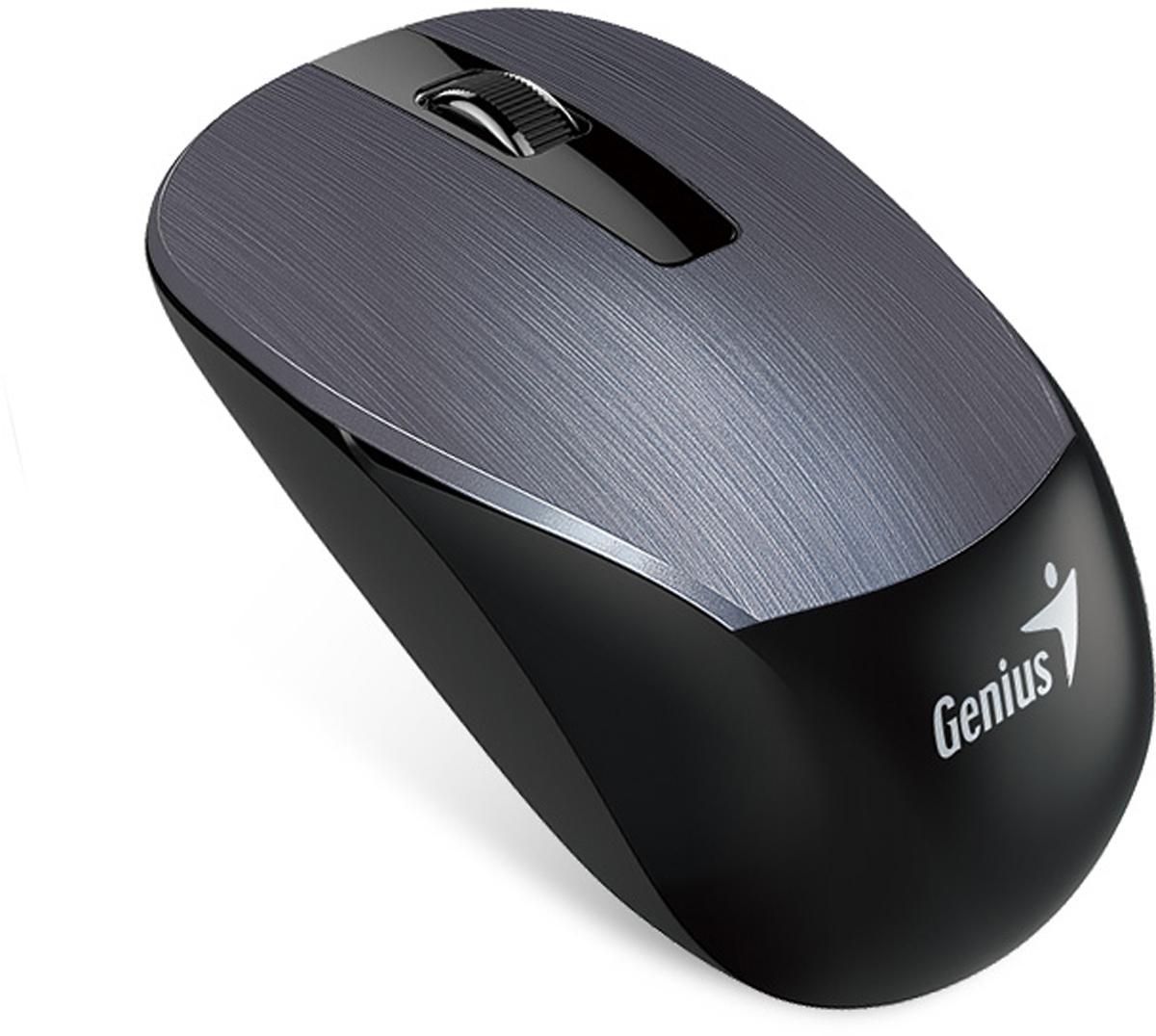 Genius NX-7015, Iron Grey мышь беспроводная31030119100Мышь Genius NX-7015 подходит как для правой, так и для левой руки.Благодаря четкой форме легко лежит как в правой, так и в левой руке и обеспечивает максимальное удобство на протяжении всего дня.Благодаря технологии BlueEye с разрешением 1600 dpi мышь обеспечивает великолепную точность и работу практически на любом покрытии: на запыленном стекле или мраморе, на диване и даже на ковре.Приемник Genius NX-7015 можно использовать с другими беспроводными мышами Genius серии NX-7000 для дополнительной мобильности. Не придется беспокоиться, если приемник от этой беспроводной серии Genius потеряется.