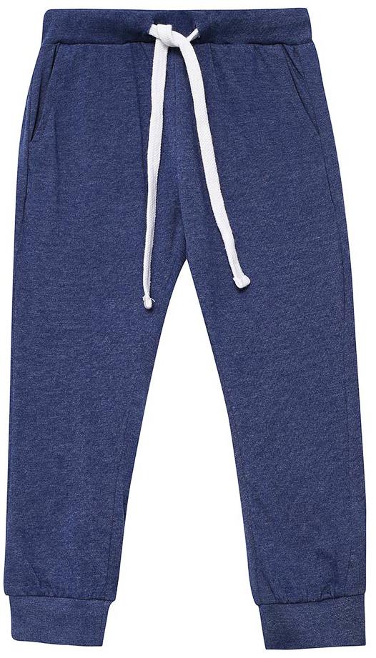Брюки для дома для мальчика Sela, цвет: темно-синий. PH-7865/005-7311. Размер 104/110PH-7865/005-7311Домашние брюки для мальчика от Sela выполнены из хлопкового трикотажа. Модель на талии дополнена широкой эластичной резинкой со шнурком. Брючины имеют широкие трикотажные манжеты. По бокам брюки дополнены втачными карманами.
