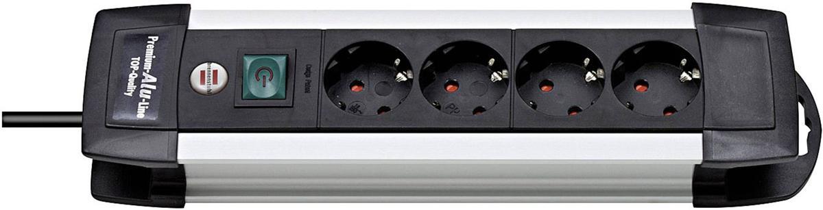 Brennenstuhl Premium-Alu-Line сетевой фильтр на 4 розетки, 1.8 м1391000014Удлинитель Brennenstuhl Premium-Alu-Line.Практичный дизайн надёжного корпусаРозетки расположены под углом 45° что позволяет подключать крупные штекеры и блоки питанияВозможность крепления к стенеНоминальное напряжение: 220 ВПредохранитель: 16 AНадёжная защита от помех и скачков напряжения до 4500 А