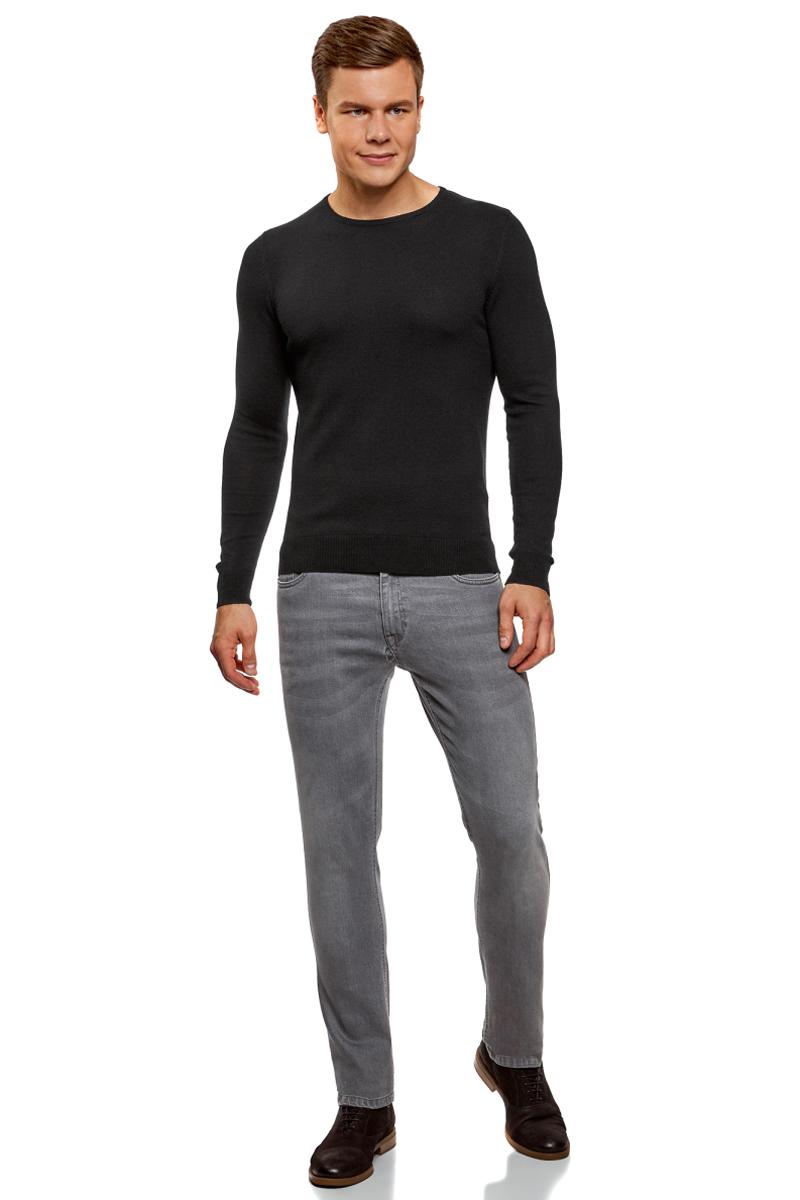 Джемпер мужской oodji Basic, цвет: черный. 4B112003M-1/39796N/2900N. Размер M (50) hama 39796