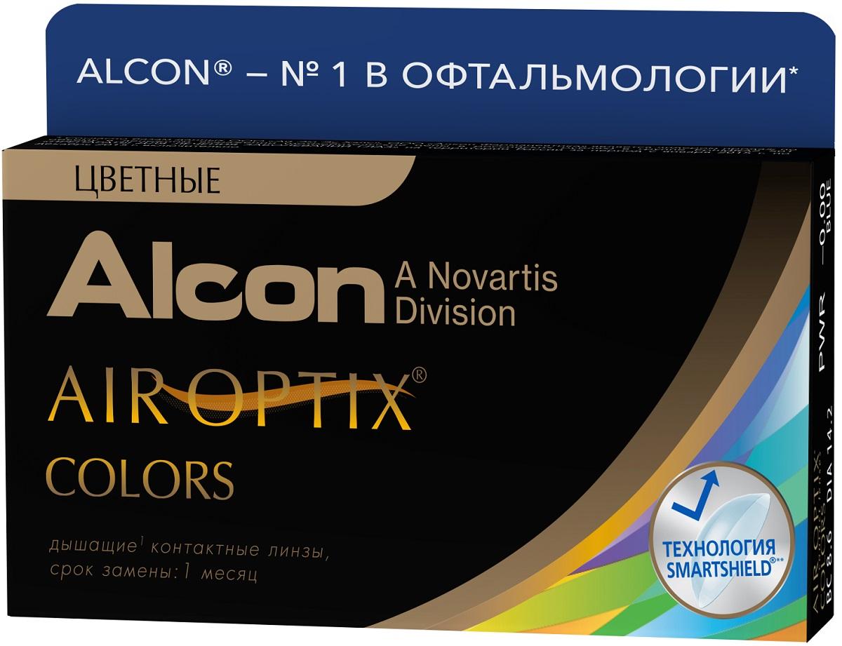 Аlcon контактные линзы Air Optix Colors 2 шт 0.00 Green31747407Мягкие контактные линзыКонтактные линзы или очки: советы офтальмологов. Статья OZON Гид