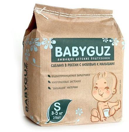BabyGuz Подгузники детские одноразовые BabyGuz S 3-5 кг 20 шт -  Подгузники и пеленки