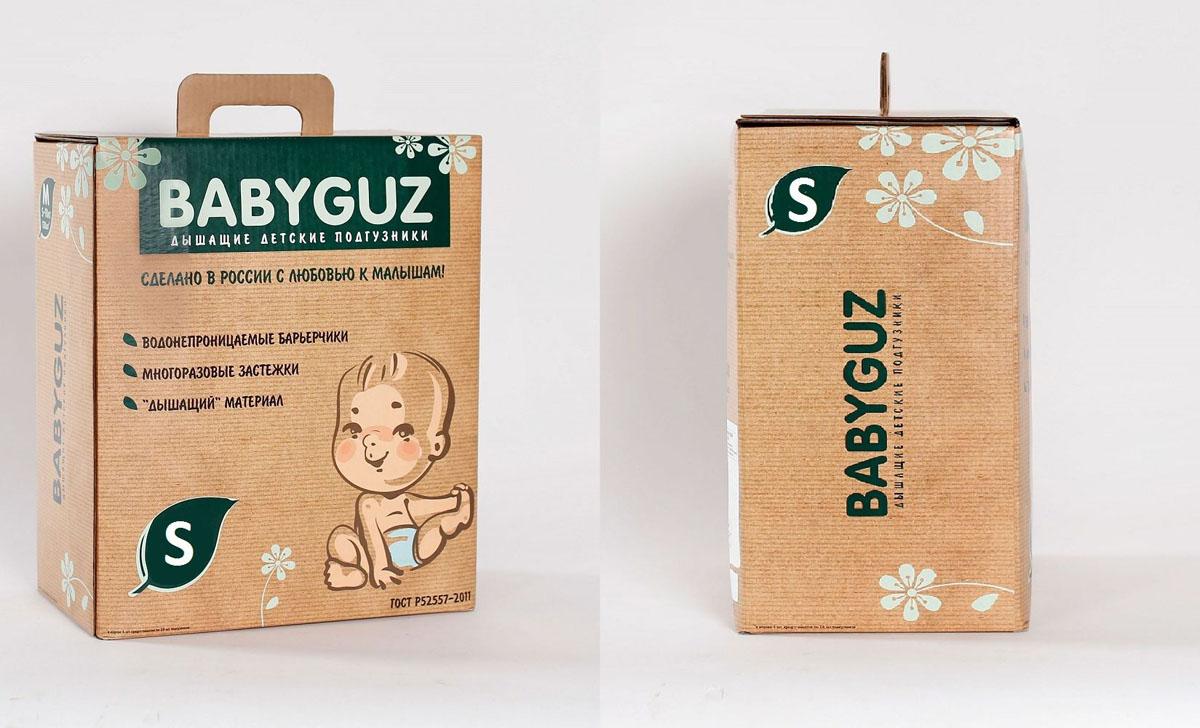 BabyGuzПодгузники S 3-5 кг 120 шт BabyGuz