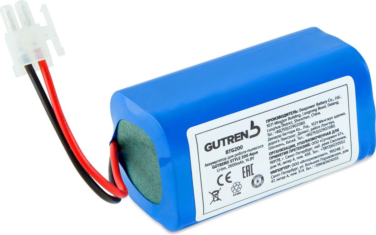 Gutrend BTG200 аккумуляторная батарея для Style 200 AquaBTG200Gutrend BTG200 - надежная оригинальная аккумуляторная батарея типа Li-Ion емкостью 2600 мАч для популярного робота-пылесоса Style 200 Aqua.