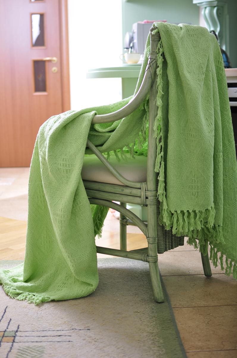 """Покрывало Arloni """"Зеленый чай"""" прекрасно оформит интерьер гостиной или спальни. Изготовлено  из экологически чистого материала - 100% хлопка, поэтому подходит как для взрослых, так и для  детей. Натуральные краски абсолютно гипоаллергенны. Покрывало однотонное, яркой расцветки,  по краям декорировано кисточками. Хорошо смотрится и на диване, и на большой кровати.  Покрывало Arloni не только подарит тепло, но и гармонично впишется в интерьер вашего дома."""