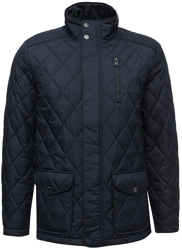 Куртка мужская Geox, цвет: темно-синий. M7420NT2414F4300. Размер 56M7420NT2414F4300Мужская повседневная стеганая куртка Geox с ромбовидным рисунком дополнена тремя внешними карманами. Воздухопроницаемость гарантируется запатентованной системой Geox. Изготовлена из матового полиэстера. Эта водоотталкивающая, ветрозащитная и стойкая к разрывам ткань особенно подходит для городской одежды. Наполнитель из ваты 120г. Прямой силуэт.