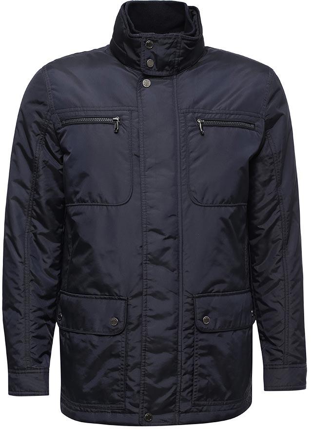 Куртка мужская Geox, цвет: темно-синий. M7420KT0579F4300. Размер 52M7420KT0579F4300Мужская куртка, одеваемая поверх пиджака, с отстегивающимся внутренним жилетом - универсальная деловая модель городского стиля. Отличается исключительной воздухопроницаемостью, благодаря запатентованной системе дышащей ткани Geox. Изготовлена из нейлонового полиэстера, ветрозащитного, водоотталкивающего и стойкого к разрывам. Наполнитель Thermore Thermosoft, 80+40г, материал с улучшенными термоизоляционными свойствами. Прямой силуэт.
