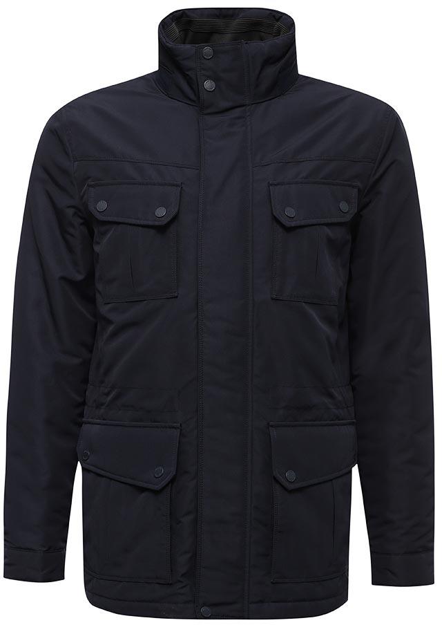 Куртка мужская Geox, цвет: темно-синий. M7420DT0351F4300. Размер 54M7420DT0351F4300Мужская куртка с подкладкой Geox выполнена из качественного материала. Модель с длинными рукавами застегивается на застежку-молнию и планку на кнопках. Изделие дополнено накладными карманами под клапанами.