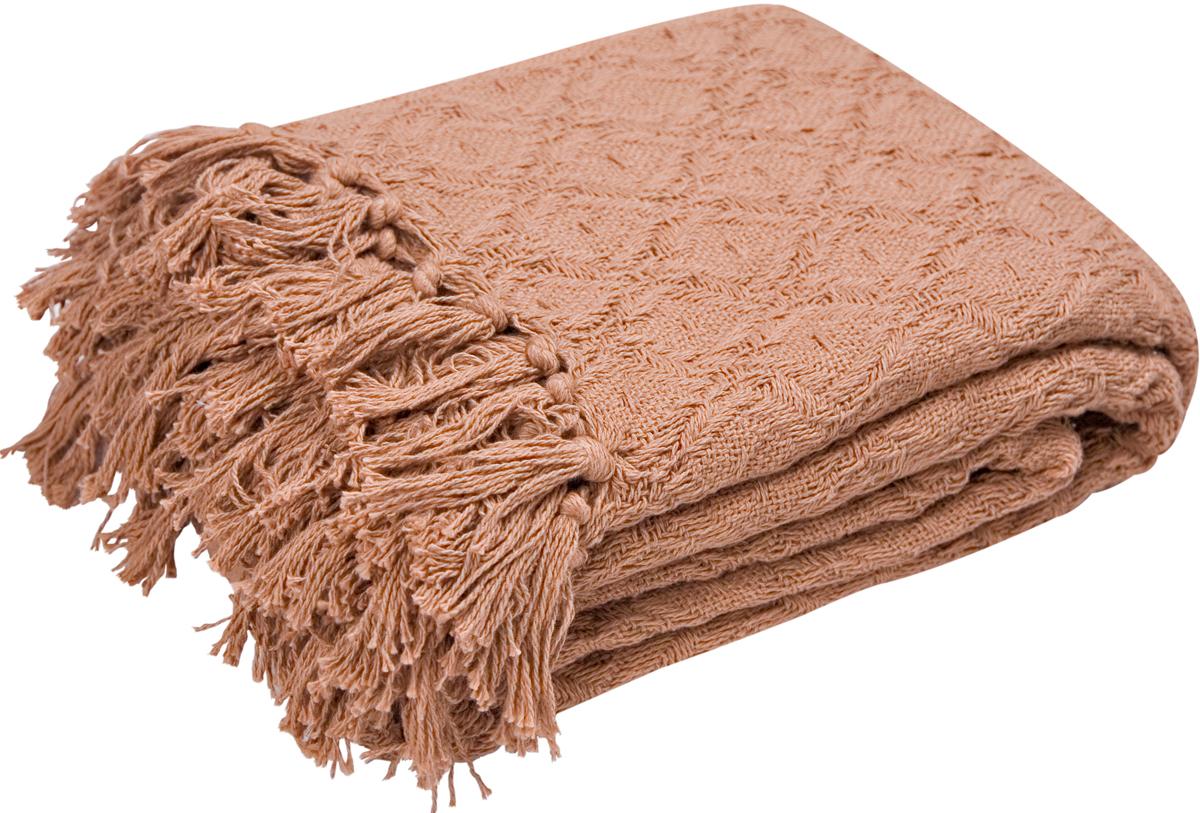 Покрывало Arloni Лайт, цвет: шоколадный, 220 х 240 см скатерть arloni arloni mp002xu0du48