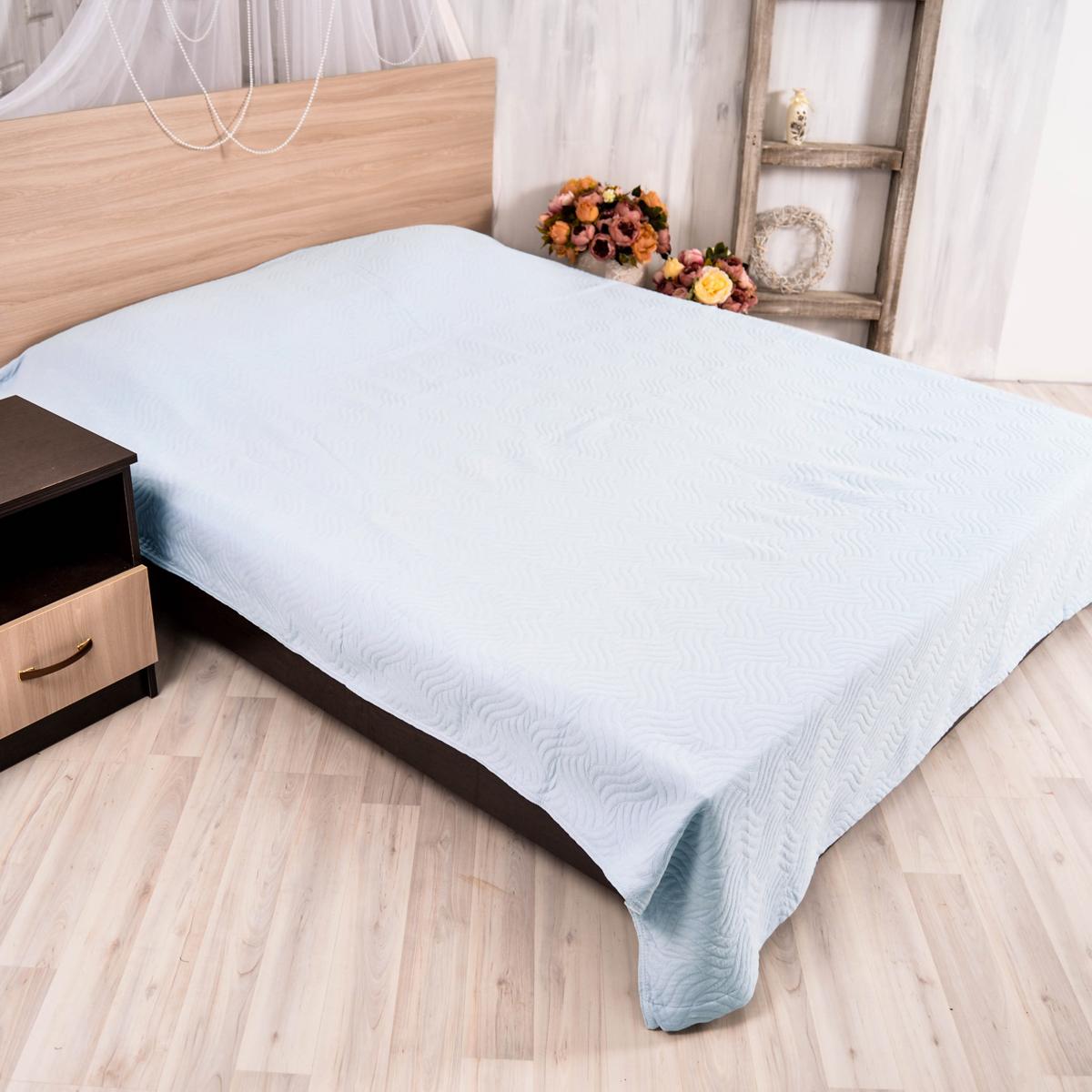 Покрывало Arloni Плетение, цвет: голубой, 150 х 200 смПКМК005-10304Покрывало Arloni Плетение изготовлено из хлопка.Натуральный хлопковый материал мягкий, приятный на ощупь, прочный, гипоаллергенный и практически не мнется. Покрывало Arloni не только подарит тепло, но и гармонично впишется в интерьер вашего дома.
