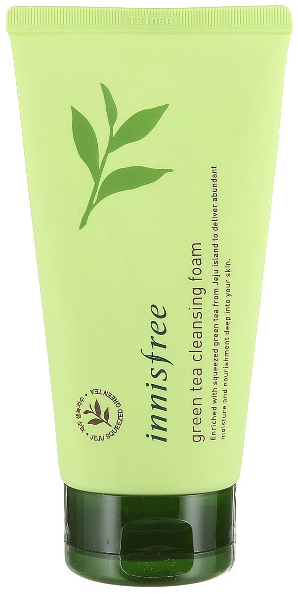 Innisfree Очищающая пенка для умывания с экстрактом зеленого чая, 150 мл551279ежная увлажняющая пенка для очищения лица - поддерживает природный гидро-баланс кожи, контролирует выделение кожного сала, сохраняет естественную влажность кожи.Зеленый комплекс с острова Чеджу, содержащийся в пенке: экстракт зеленого чая, вытяжка из кожуры мандарина, экстракт листьев камелии, экстракт кактуса и орхидеи, увлажнят вашу кожу и сохранят ее надолго здоровой.Органический Зеленый Чай способствует глубокому увлажнению, питает и восстановливает кожу, снимает раздражение.Каолин в составе пенки глубоко очищает кожу от загрязнений и макияжа.Подходит для любого типа кожи. Идеальна для комбинированной, проблемной кожи и сухой с шелушениями.Без парабенов , красителей, минеральных масел , животных ингредиентов и синтетических ароматов.