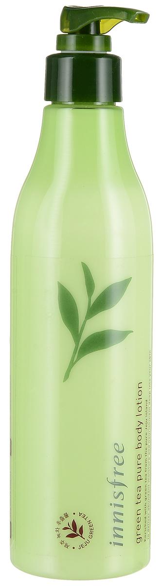 Innisfree Лосьон для тела зеленый чай, 300 мл574940Прекрасно увлажняет, питает и насыщает кожу полезным микроэлементами. Входящие в состав листья зеленого чая собираются только на экологически чистых полях острова Чечжудо - заповедной территории острова-вулкана.