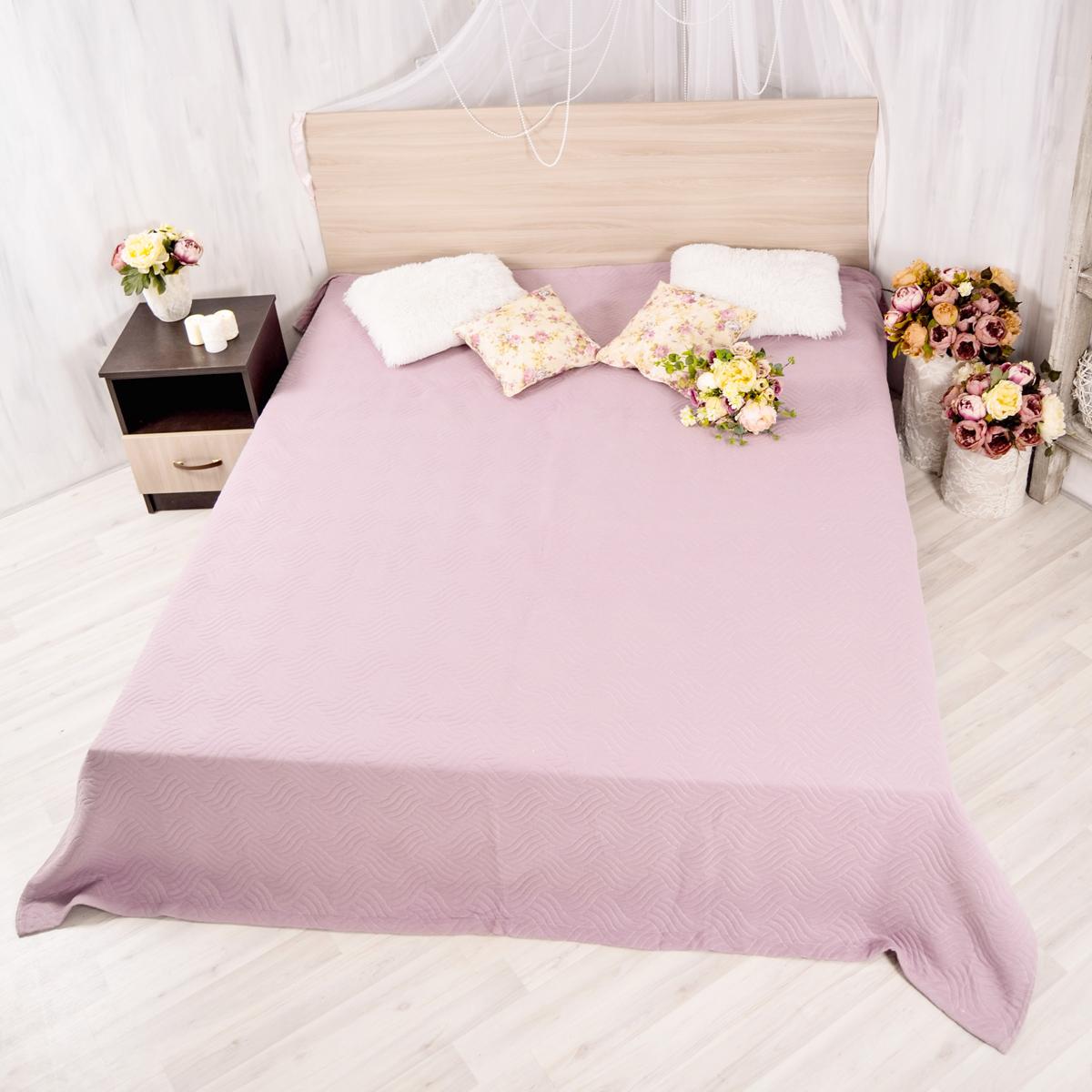 Покрывало Arloni Плетение, цвет: фиолетовый, 200 х 230 смА006-6ARL