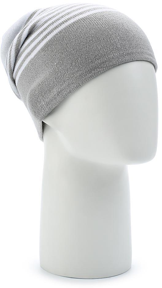 Шапка Salomon Flatspin Reversible Beanie, цвет: белый, серый. L39508500. Размер универсальныйL39508500Стильную длинную шапку Flatspin Reversible Beanie можно носить вывернутой наизнанку — идеальный выбор для любого лыжника. Выполнена из высококачественного материала.