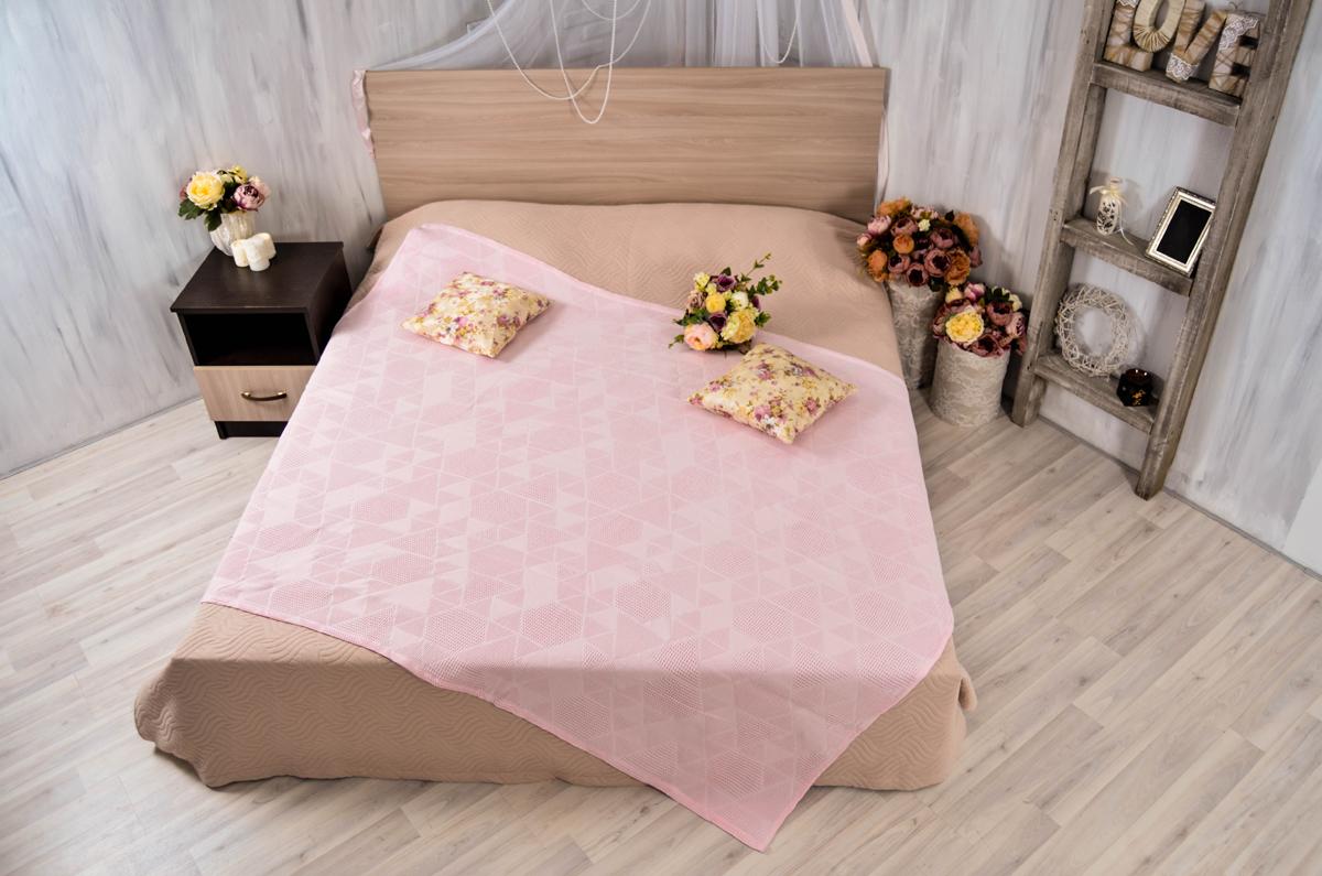 Покрывало Arloni Ромбики, цвет: розовый, 150 х 200 см9981-1ARL