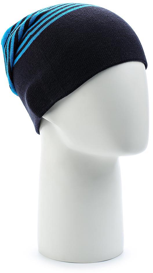 Шапка Salomon Flatspin Reversible Beanie, цвет: голубой, синий. L39508300. Размер универсальныйL39508300Стильную длинную шапку Flatspin Reversible Beanie можно носить вывернутой наизнанку — идеальный выбор для любого лыжника. Выполнена из высококачественного материала.
