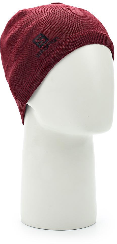 Шапка Salomon Beanie, цвет: бордовый. L39507500. Размер универсальныйL39507500Сохраните холодный разум, заявив о себе с шапкой SALOMON BEANIE.Выполнена из высококачественного материала.