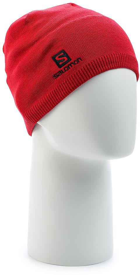 Шапка Salomon Beanie , цвет: красный. L39507200. Размер универсальныйL39507200Сохраните холодный разум, заявив о себе с шапкой SALOMON BEANIE.
