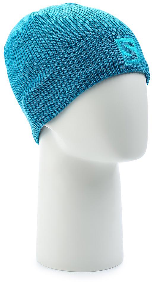 Шапка Salomon Logo Beanie, цвет: голубой. L39496700. Размер универсальныйL39496700Структурированная вязаная шапка Logo Beanie украшена вышитым цветным логотипом. Модель выполнена из высококачественного материала.