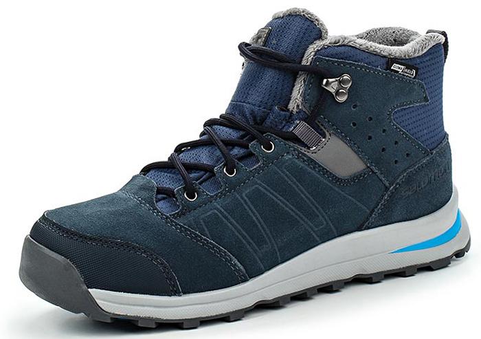 Ботинки для мальчика Salomon Utility TS CSWP J, цвет: синий. L39186900. Размер 33 (31,5)L39186900Утепленныеботинки выполнены из непромокаемого текстиля и натуральной кожи. Классическая шнуровка надежно фиксирует модель на ноге. Мысок усилен вставкой из искусственного материала. Подошва оснащена рифлением для лучшего сцепления с любой поверхностью.